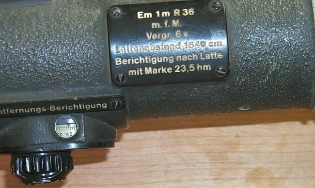 Entfernungsmesser R36 : Em m r german rangefinding optics bunkeroptik bunkersite