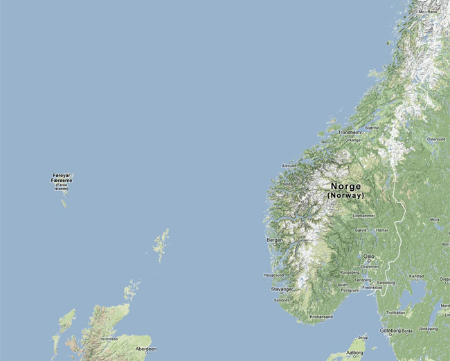 Map of southern Norway
